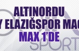 Altınordu-TY Elazığspor Maçı Max 1'de