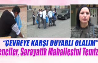 Elazığ Lisesi Öğrencileri Sarayatik Mahallesini...