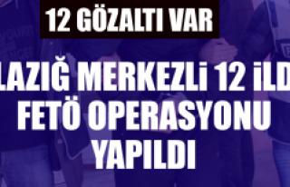 Elazığ Merkezli 12 İlde FETÖ Operasyonu Yapıldı