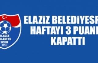 Elaziz Belediyespor Haftayı 3 Puanla Kapattı