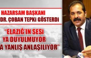 HAZARSAM Başkanı Prof. Dr. Çoban Tepki Gösterdi