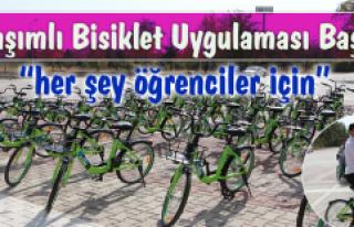 Kampüste Paylaşımlı Bisiklet Uygulamasını Başladı