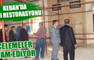 Keban'da Cami Restorasyonu Devam Ediyor