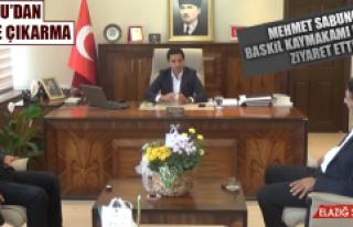 Sabuncu, Baskil Kaymakamı Murat'ı Ziyaret Etti