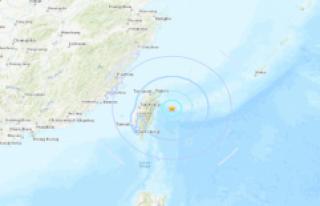 Tayvan açıklarında deprem