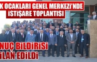 Türk Ocakları Genel Merkezi'nde İstişare Toplantısı