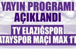 TY Elazığspor-Hatayspor Maçı Max 1'de