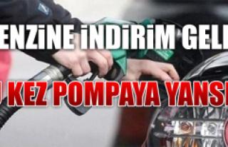BENZİNE 17 KURUŞ İNDİRİM GELDİ