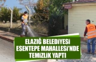 Elazığ Belediyesi Esentepe Mahallesi'nde Temizlik...