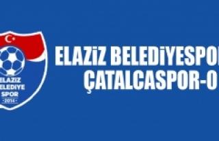 Elaziz Belediyespor 0-0 Çatalcaspor