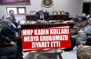 MHP Kadın Kolları Medya Grubumuzu Ziyaret Etti