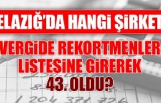 Türkiye'nin rekortmenleri listesinde Elazığ'dan...