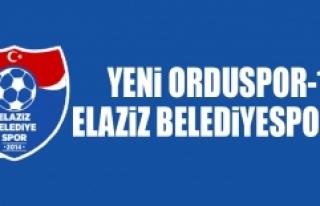 Yeni Orduspor 1-1 Elaziz Belediyespor
