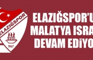 Elazığspor'un Malatya Israrı Devam Ediyor