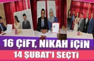 16 Çift, Nikah İçin 14 Şubat'ı Seçti