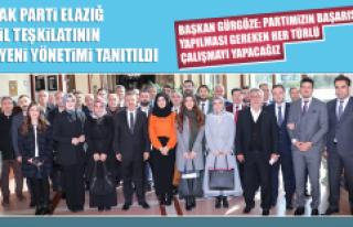 AK Parti Elazığ İl Teşkilatının Yeni Yönetimi...