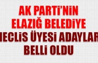 AK Parti'nin Elazığ Belediye Meclis Üyesi...
