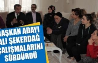 Başkan Adayı Ali Şekerdağ, Çalışmalarını...