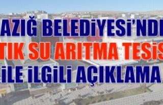 """Elazığ Belediyesi'nden """"Atık Su Arıtma Tesisi""""..."""