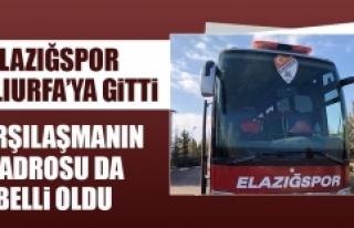 Elazığspor Şanlıurfa'ya Gitti