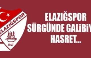 Elazığspor, Sürgünde Galibiyete Hasret…