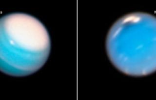 Hubble Neptün ve Uranüs'teki fırtınaları...