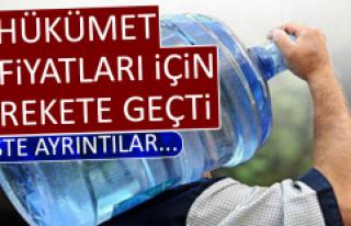 Hükümet, Su Fiyatları İçin de Harekete Geçti