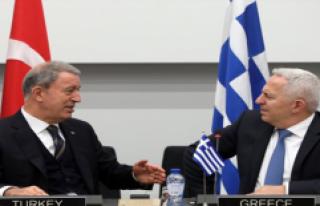 Hulusi Akar Yunanistan Savunma Bakanı İle Bir Araya...