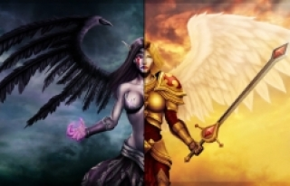 League of Legends'in Kayle ve Morgana Karakterleri...