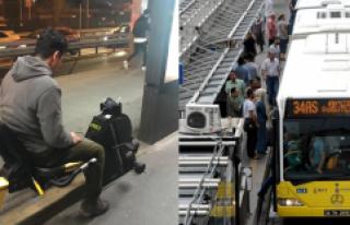 Metrobüs Durağındaki Şarj Bisikleti Görenleri...