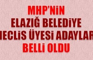 MHP'nin Elazığ Belediye Meclis Üyesi Adayları...