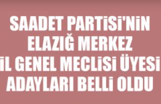 Saadet Partisi'nin Elazığ Merkez İl Genel...