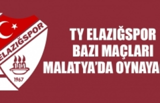TY Elazığspor Bazı Maçları Malatya'da Oynayacak