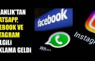 Bakanlık'tan Whatsapp, Facebook ve Instagram...