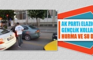 AK Parti Elazığ Gençlik Kolları Hurma ve Su Dağıttı