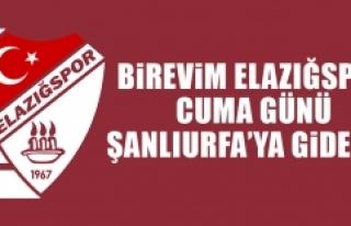 Birevim Elazığspor, Cuma Günü Şanlıurfa'ya...