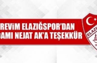 Birevim Elazığspor'dan İşadamı Nejat Ak'a...