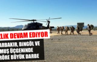 Diyarbakır, Bingöl ve Muş Üçgeninde Teröre Büyük...