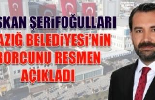 Elazığ Belediyesi'nin Borcu Resmen Açıklandı!