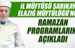 Elazığ Müftülüğü'nün Ramazan Programları