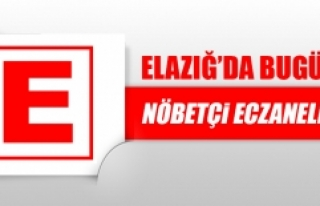 Elazığ'da 18 Mayıs'ta Nöbetçi Eczaneler