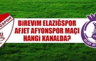 Elazığspor- Afyonspor Maçı Hangi Kanalda?