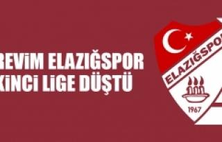 Elazığspor İkinci Lige Düştü