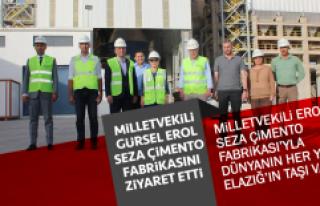 Milletvekili Gürsel Erol SEZA Çimento Fabrikasını...