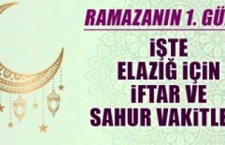 Ramazanın birinci gününde Elazığ'da iftar vakti...