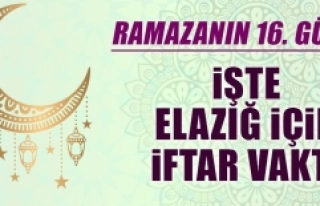 Ramazanın On Altıncı Gününde Elazığ'da İftar...