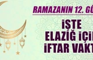 Ramazanın On İkinci Gününde Elazığ'da İftar...