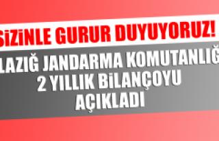 Elazığ Jandarma Komutanlığı 2 Yıllık Bilançoyu...