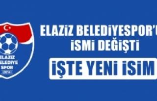 Elaziz Belediyespor'un İsmi Değişti