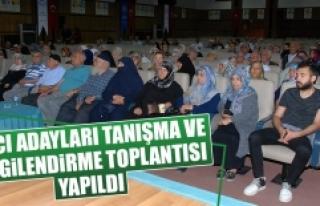 Hacı Adayları Tanışma ve Bilgilendirme Toplantısı...